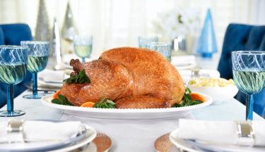 burnt orange glazed roast turkey