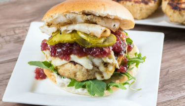 giant juicy turkey burger